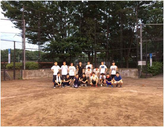 この写真は、この前ソフトボールをした時の写真です。(^^)/
