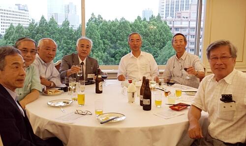6月21日関東八雲会(寮OB会)にて同時代に寮生だった仲間達と